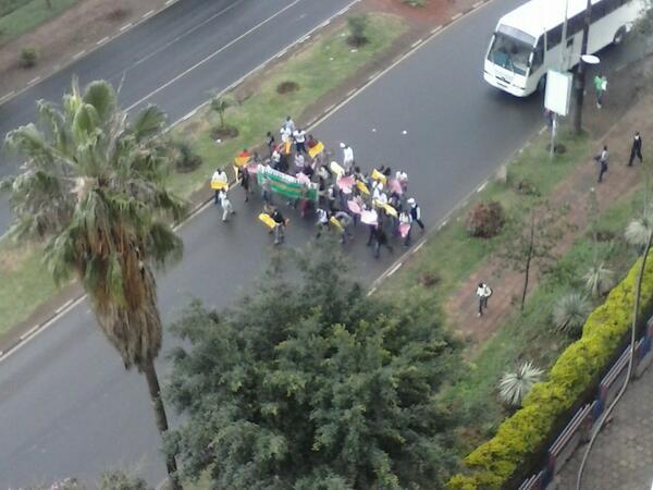 Egerton University students on the streets