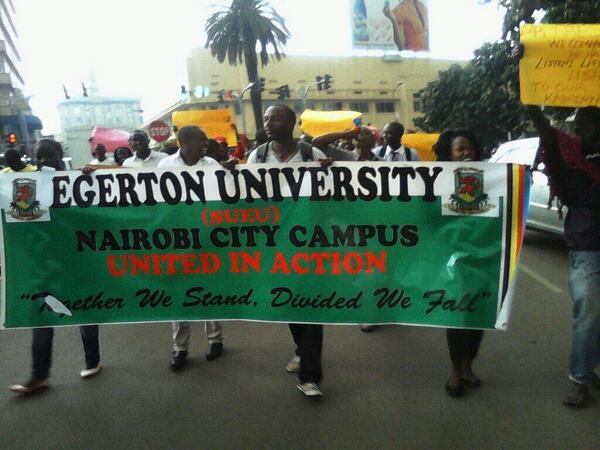 Egerton University students