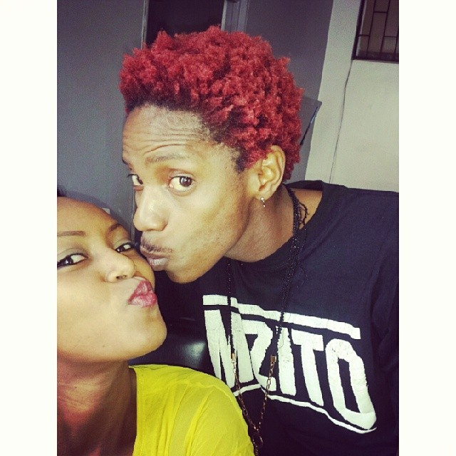 eric omondi kissing selfie