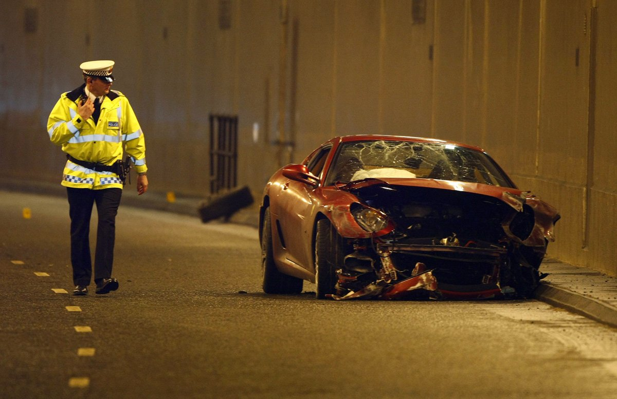 in 2009 he crashed his ferrari worth 320000 in manchester