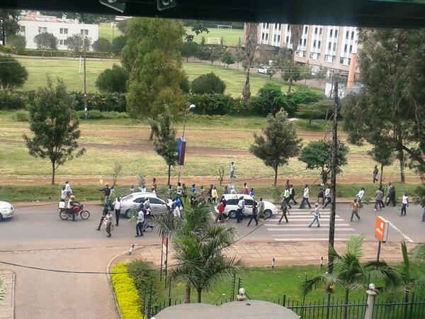 UoN Kenya science matching down Ngong Road
