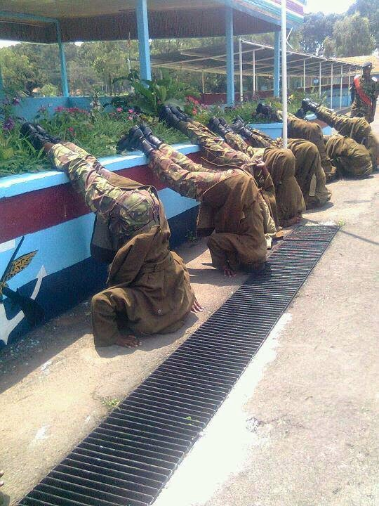 kenyan soldiers punishment