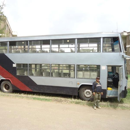 mike sonko double decker bus