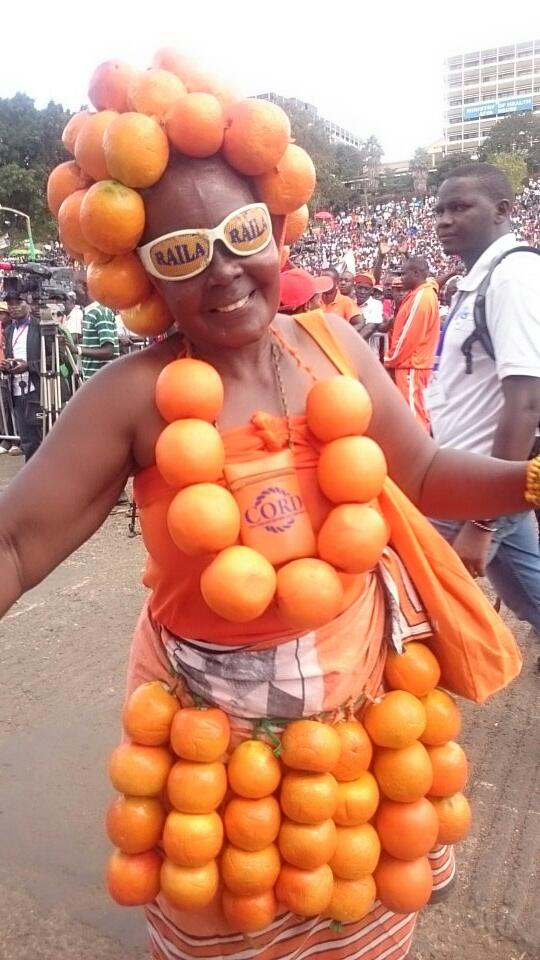 supporters of raila odinga turn up in style