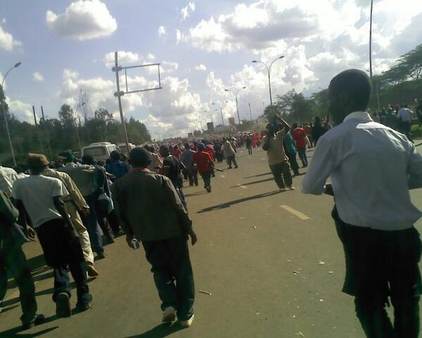 Protests on Thika Road