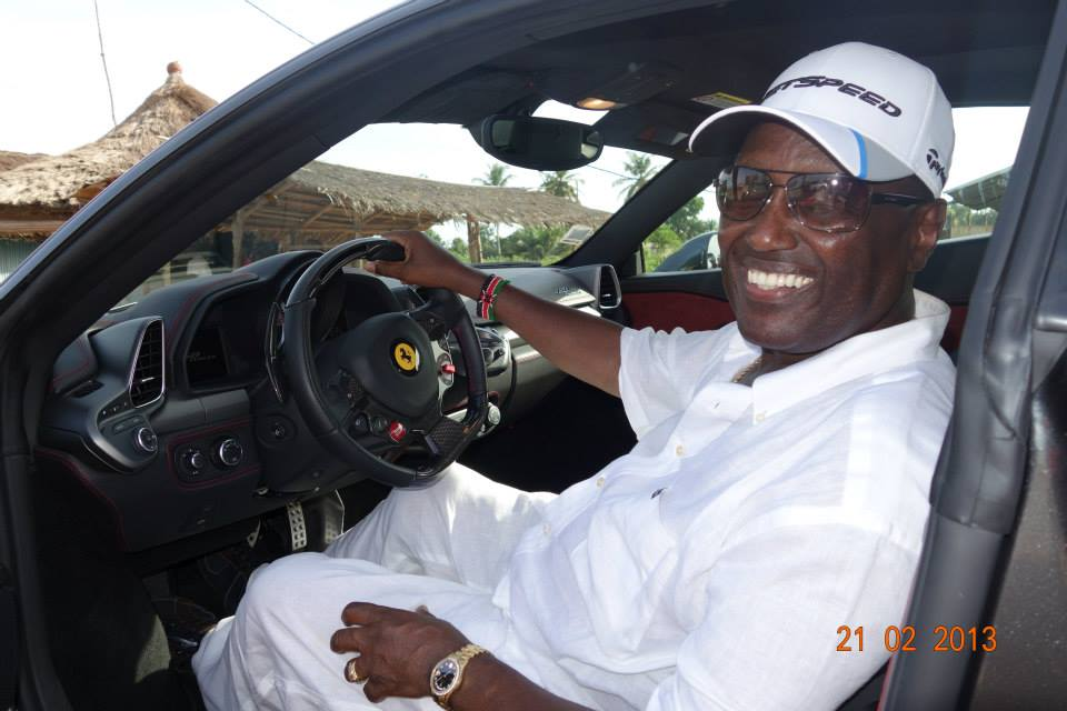 billionaire chris kirubi driving a ferrari naibuzz