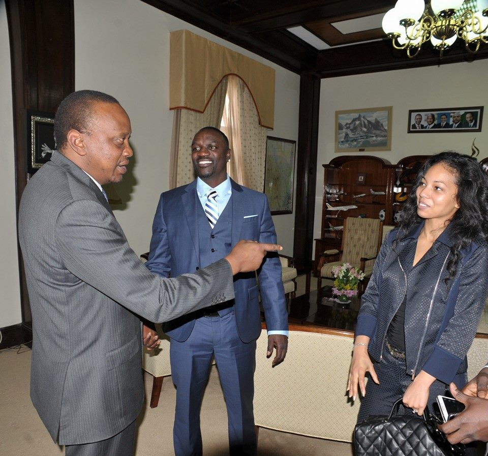 Photos Of President Uhuru Kenyatta And Akon At State House