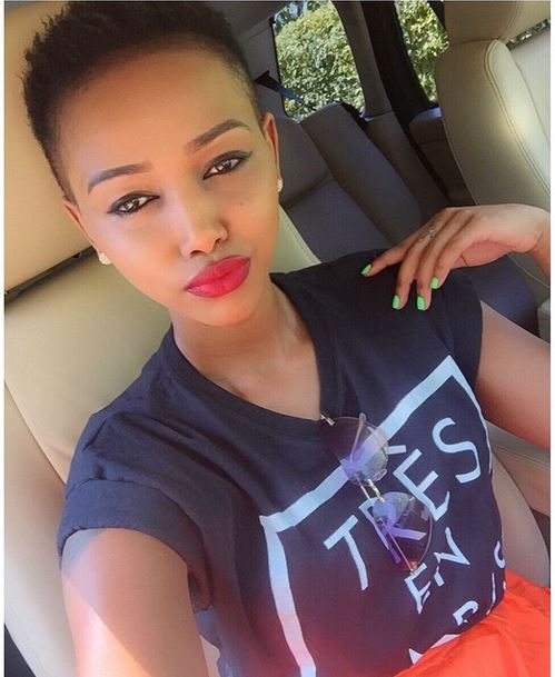 Huddah Monroe Looking Super Cute With Her New Shaved Head