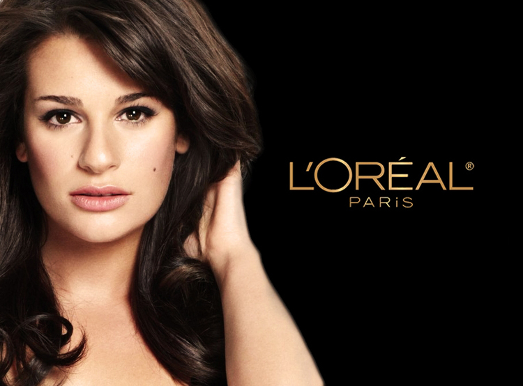 Loreal-ad-with-Lea-Michelle