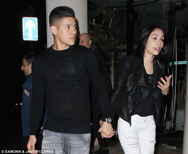 Marcos Rojo and wife Eugenia