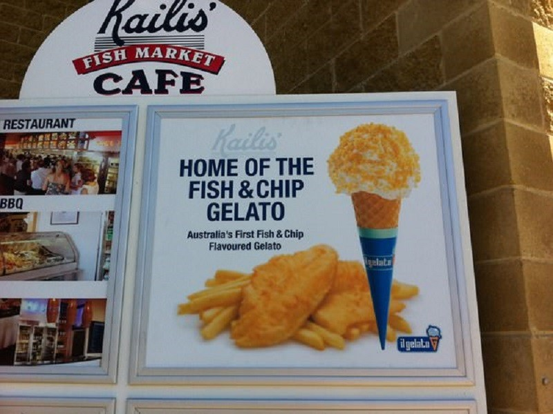 fish and chips icecream