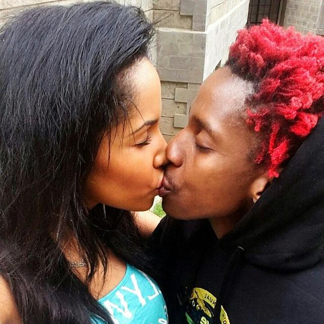 eric and girl kissing