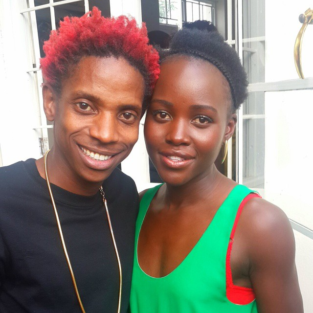 Image result for eric omondi with red hairstyle hosting oscars