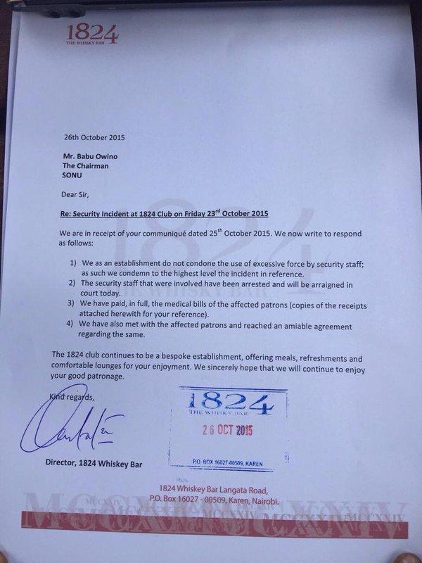 1824 letter