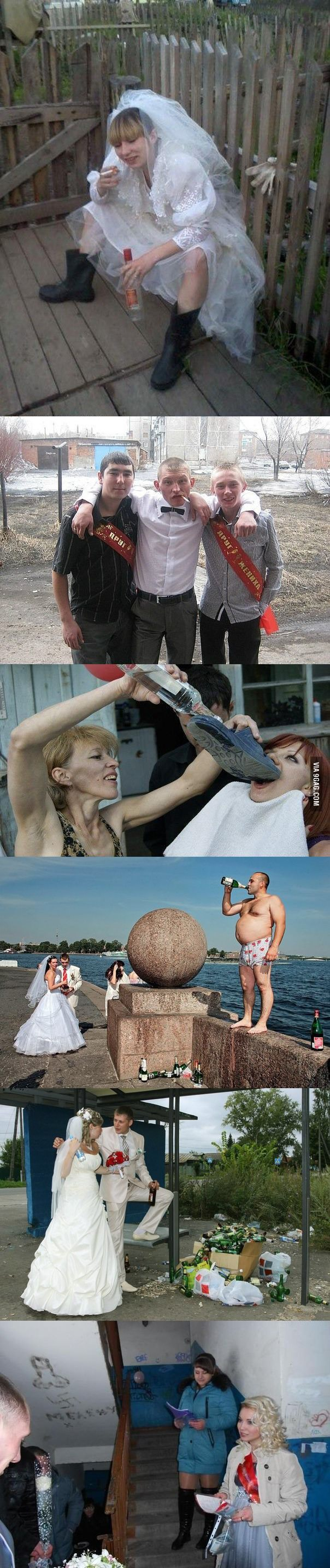 Weirdest russian wedding pictures
