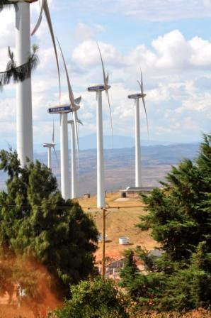 Wind is the fourth largest source of energy with an installed capacity of 25.5MW .