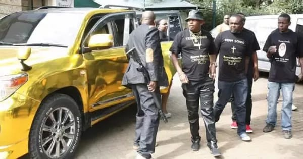 Mike Sonko and bodyguards