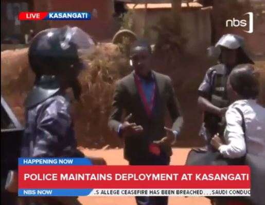 nbs jourinalist arrested live