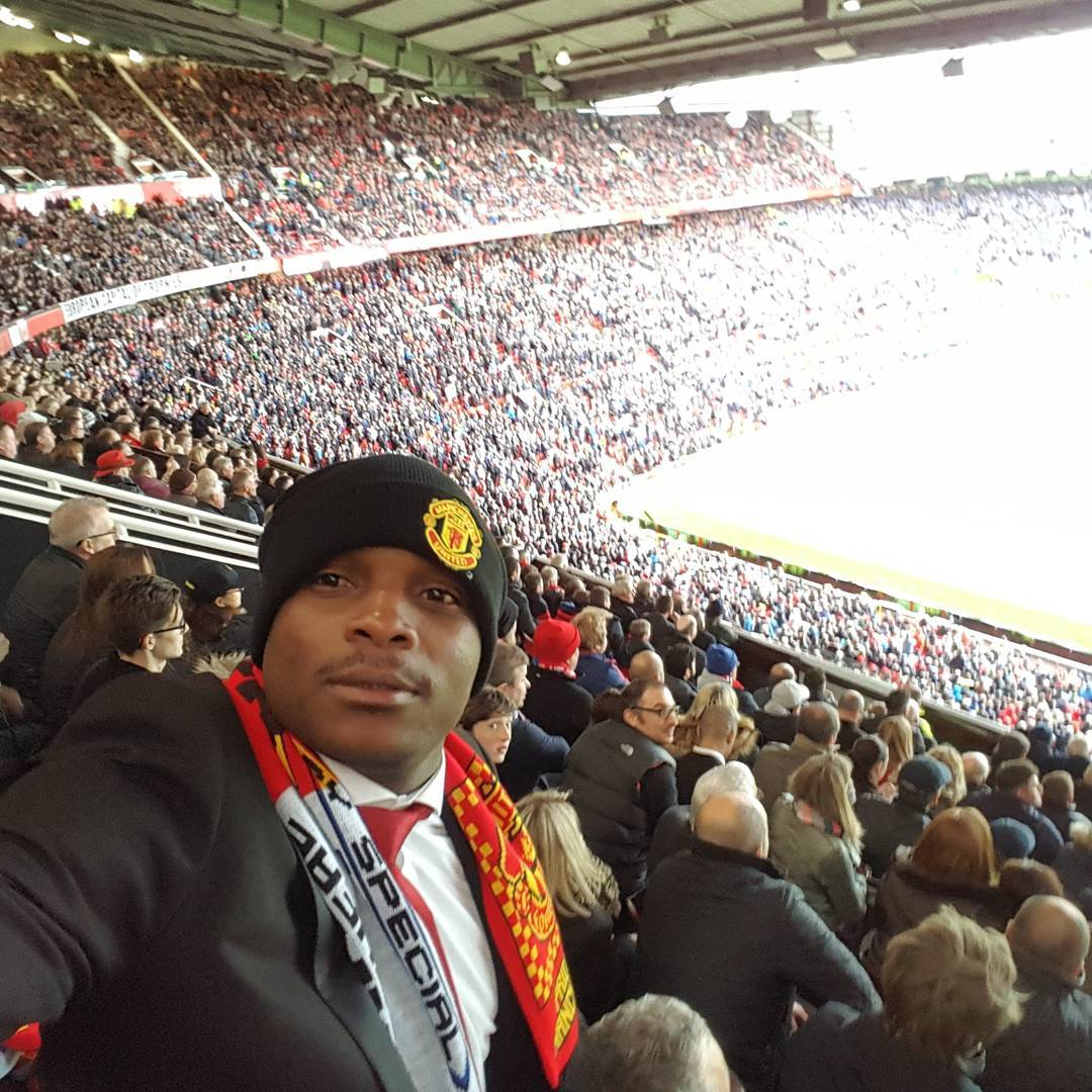 Jalang O In Old Trafford Stadium For The Man United Vs