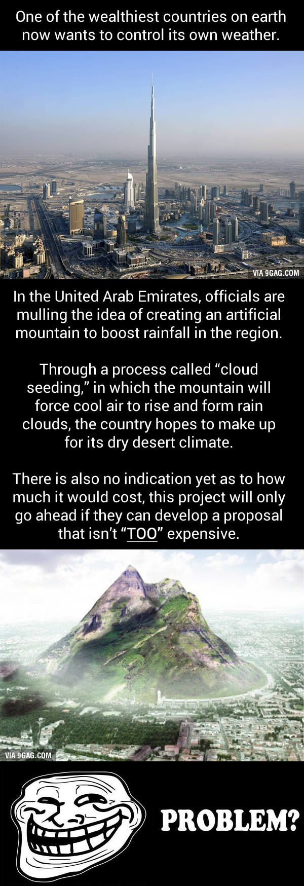 dubai to build mountain