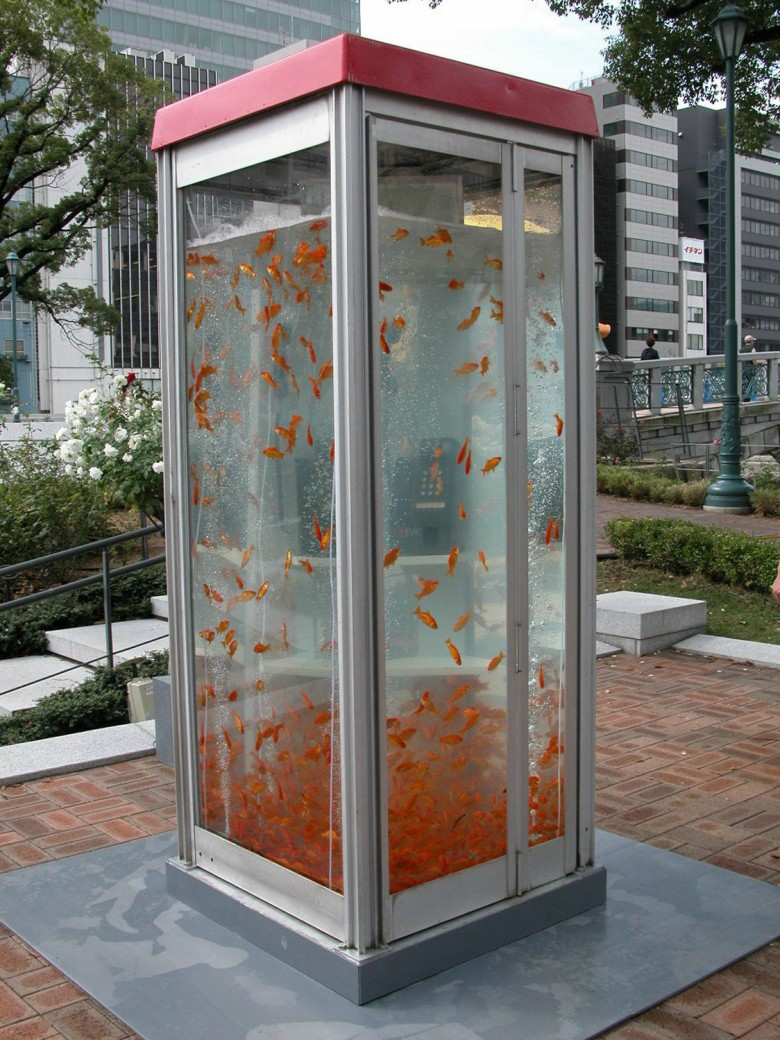 5. Phone Booth Aquariums