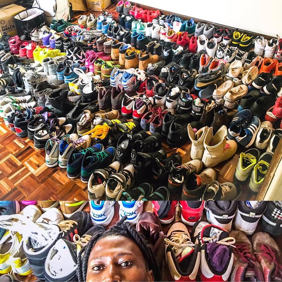 Check Out Octopizzo's Insane Shoe Collection