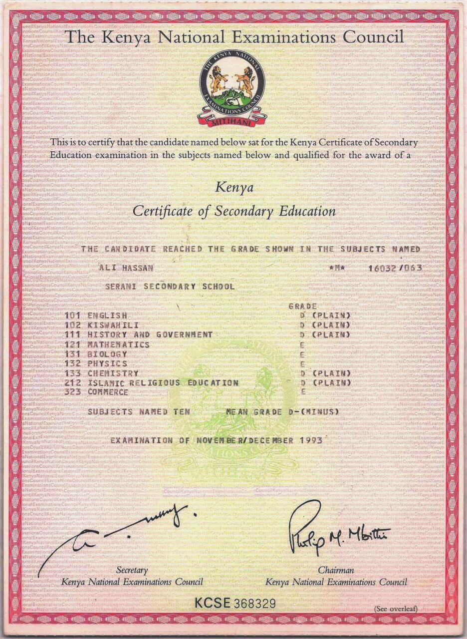 KNEC Claims Joho's KCSE Certificate Is Fake - Naibuzz