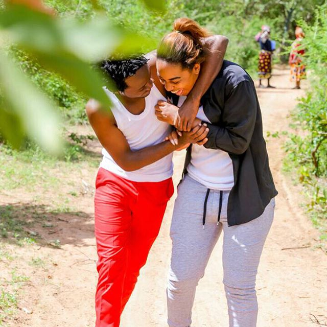 8 Adorable Photos Of Bahati And Diana Getting All Lovey