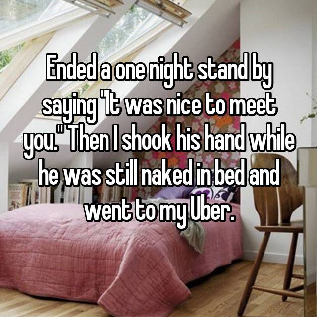 Meet people for one night stands